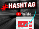 como colocar hashtag no youtube